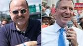 Joseph Lhota, left, and Bill de Blasio sought