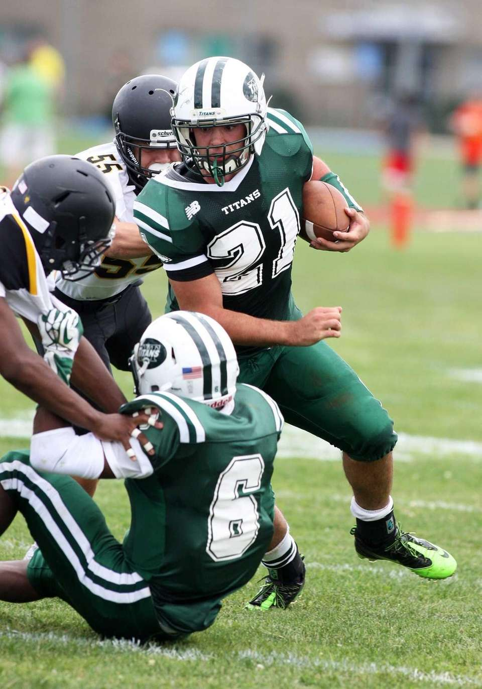 Holy Trinity running back Ryan Rossi, No. 21,