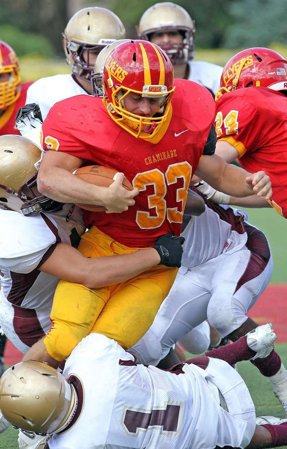 Chaminade's Robert Speranza Jr. fights for more yards