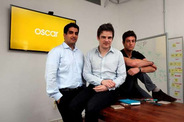 Oscar Insurance co-founders Kevin Nazemi, 32, left, Mario
