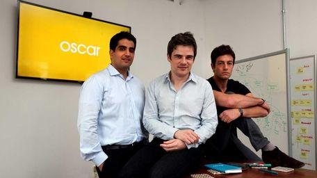 Oscar Insurance co-founders Kevin Nazemi, 32, left, Mario