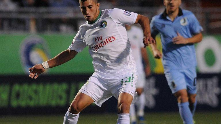 Cosmos midfielder Sebastian Guenzatti looks to make a