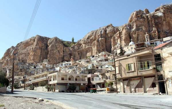 Maalula is a Christian town in Syria. Syria's