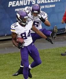 Minnesota Vikings wide receiver Cordarrelle Patterson (84) celebrates