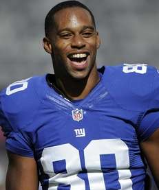 Giants wide receiver Victor Cruz is seen during