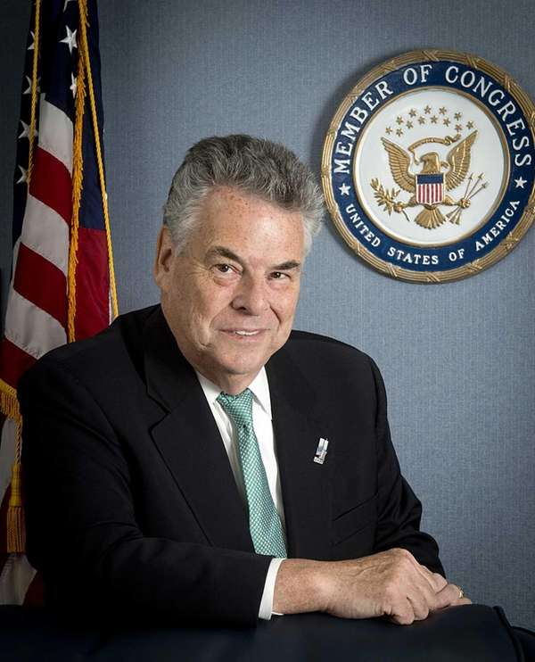 Congressman Peter King at his office in Massapequa