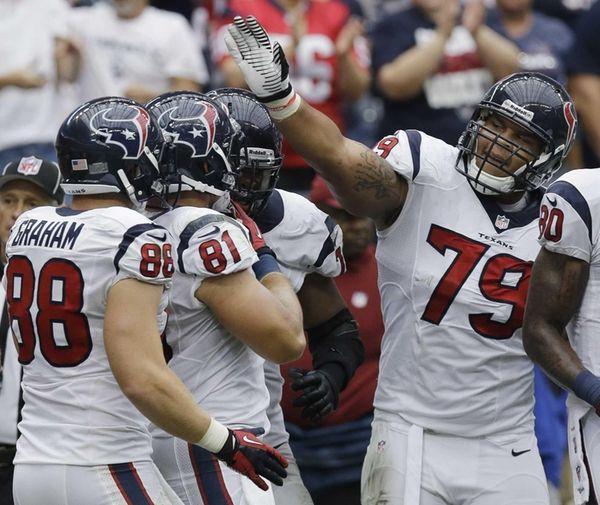 Houston Texans tight end Owen Daniels (no. 81)