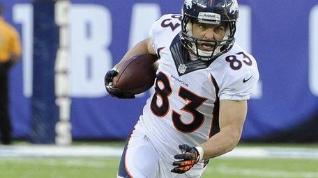 Denver Broncos wide receiver Wes Welker #83 carries