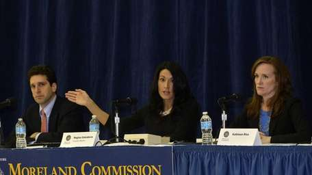 Moreland Commission co-chair Benjamin Lawsky, left, superintendent of
