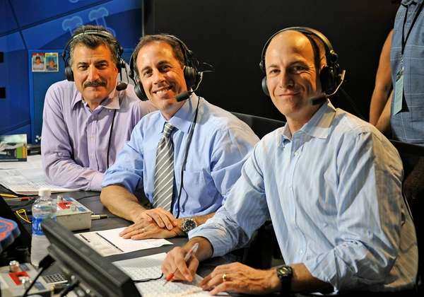 From left, Keith Hernandez, Jerry Seinfield and Gary