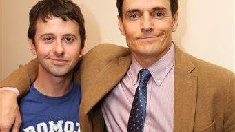 From left, cast members John Milhiser and Henry