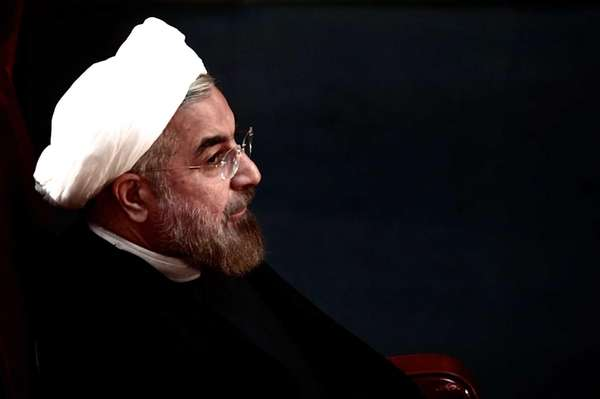 Iranian President Hassan Rowhani attends a session of