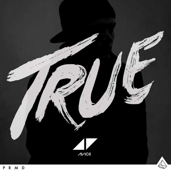 "Album cover art for ""True"" by Avicii."