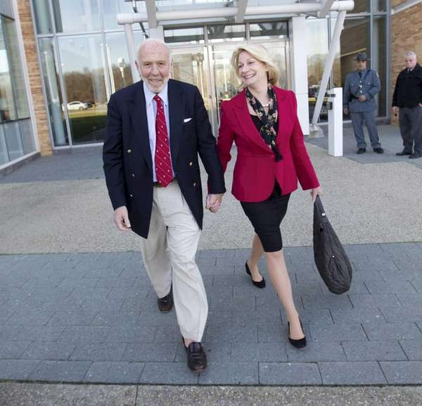 James Simons and his wife, Marilyn, on the