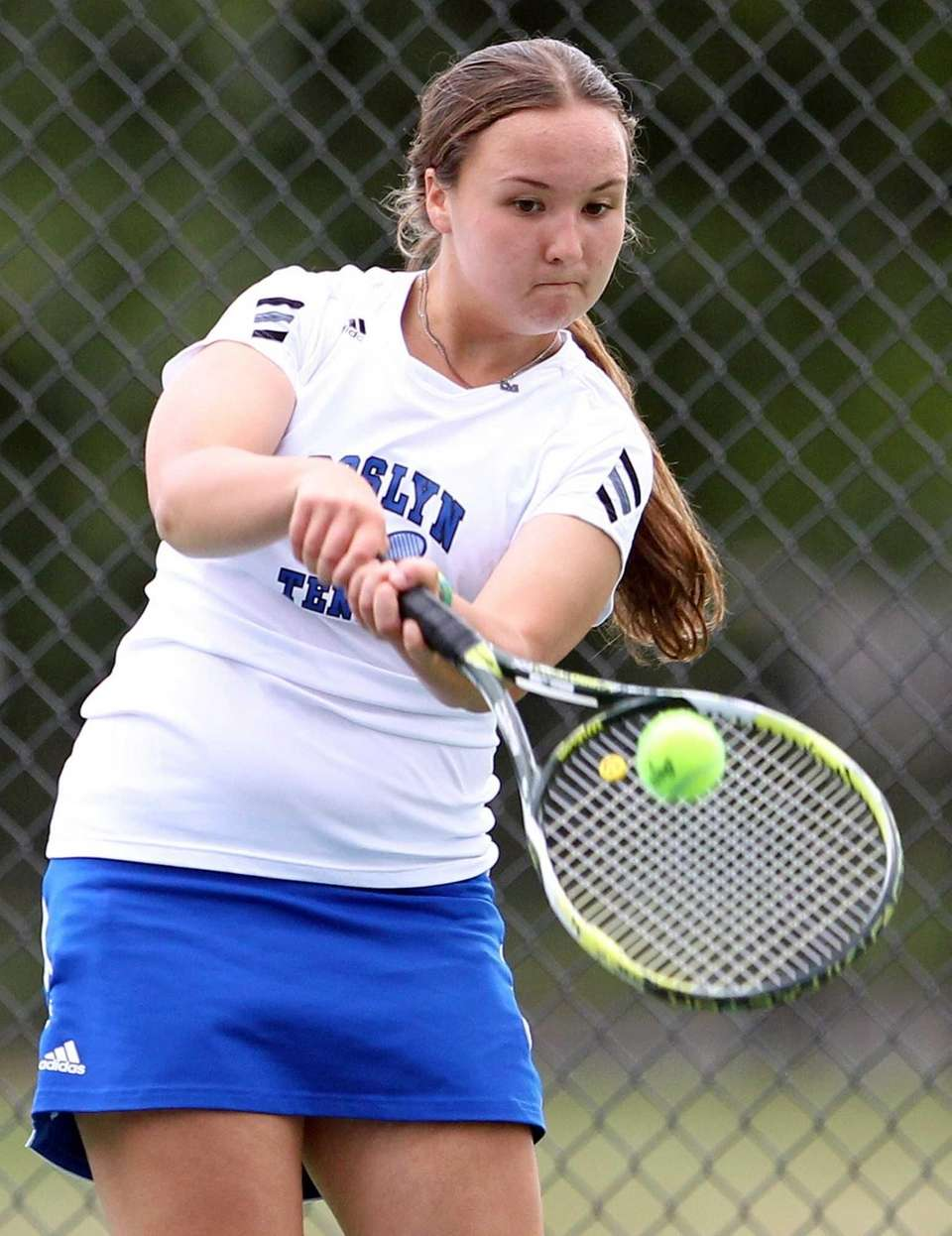 Roslyn's doubles player Sophie Radotzky during a match