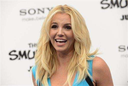 Britney Spears arrives at the world premiere of