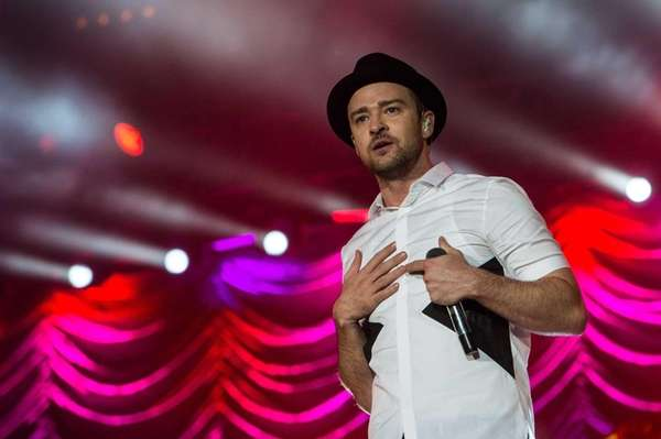 Justin Timberlake performs during the Rock in Rio