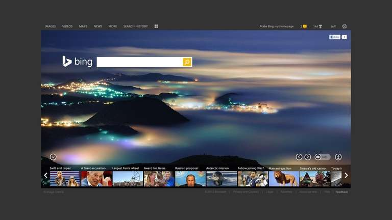 how to make bing my homepage