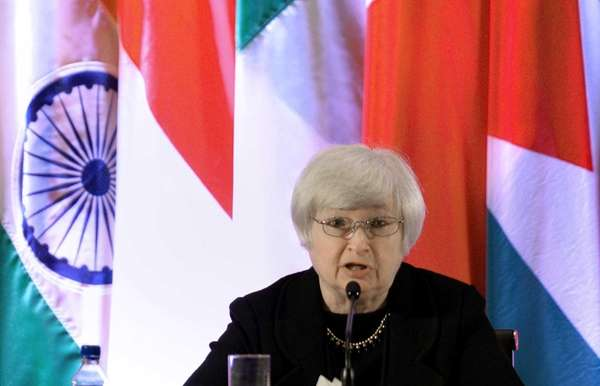 Federal Reserve Vice Chair Janet Yellen speaks at