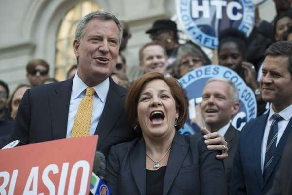 Democratic mayoral candidate Bill de Blasio is endorsed