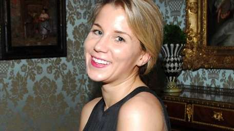 Caroline Biden, shown at a party in NYC,