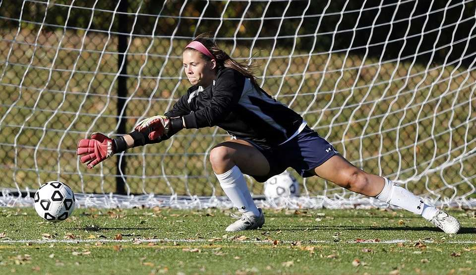 Cold Spring Harbor's keeper Victoria Campbell is unable