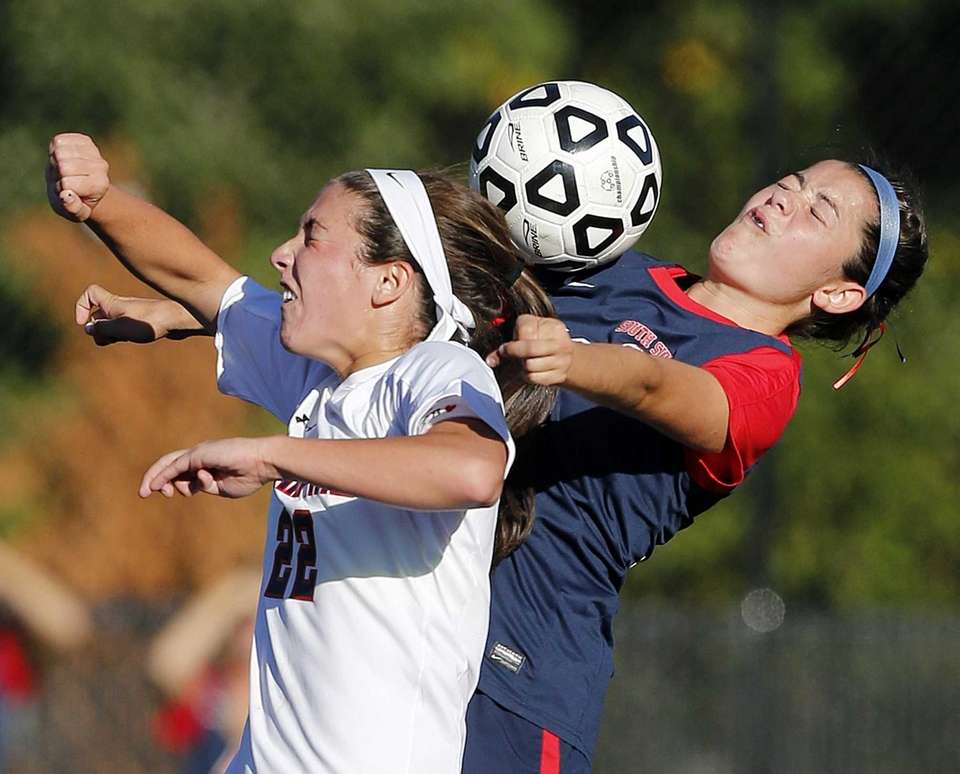 Cold Spring Harbor's Teressa Fazio and South Side's