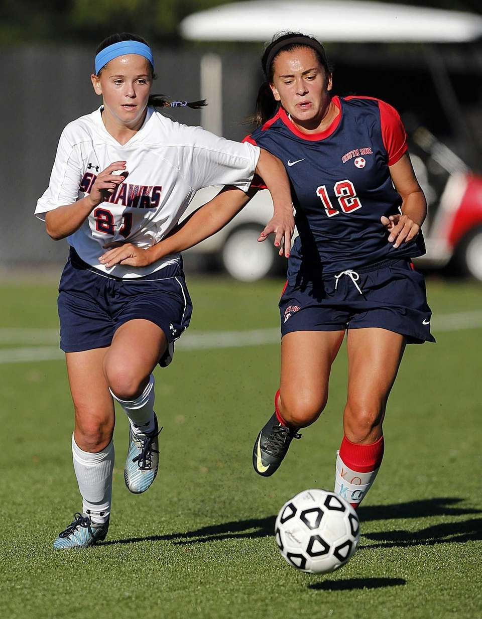 Cold Spring Harbor's Katie Hudson and South Side's