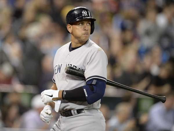 Yankees' Alex Rodriguez walks off the field after