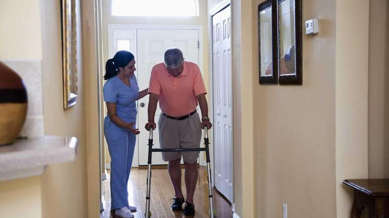 Home care aides who work as companions have