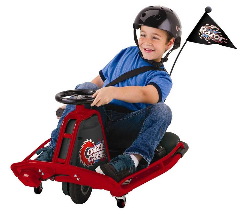 The Crazy Cart from Razor allows kids to