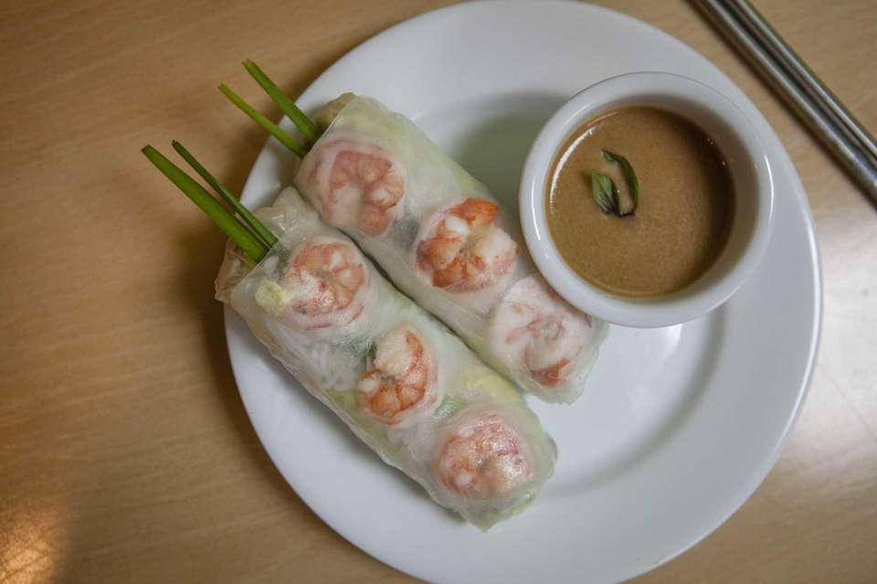 The summer rolls at The Rolling Spring Roll