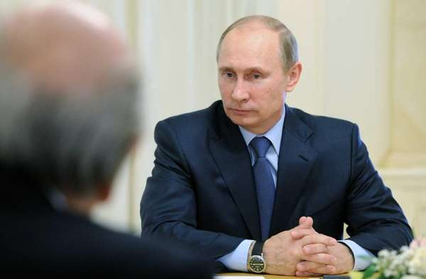 Russian President Vladimir Putin meets with FIFA President