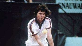Jimmy Connors is seen during the French Open