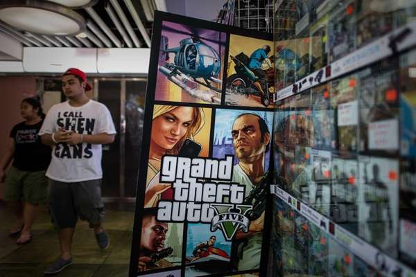 The Grand Theft Auto V video game is