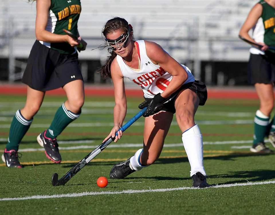 Sachem East's Cara Trombetta shoots and scores against