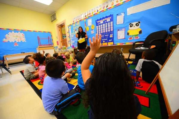Prekindergarten students at Columbus Avenue Early Childhood Center