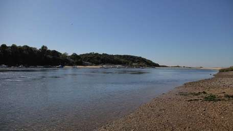 The mouth of the Nissequogue River in Smithtown.