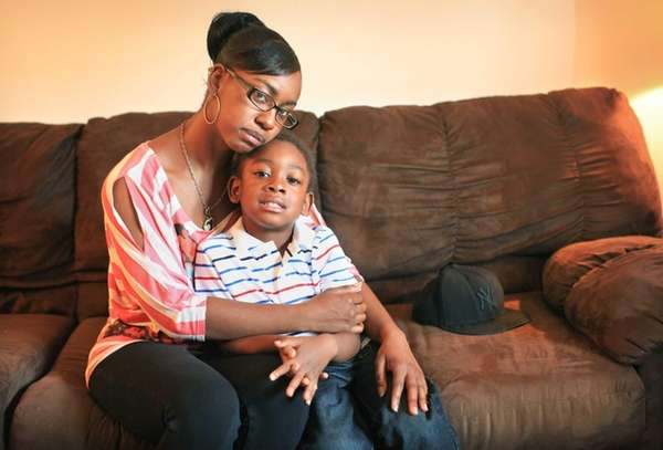 Crystal Allen, 26, a single mother with a