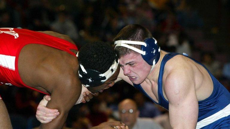 Jon Jones, left, of Union-Endicott High School, defeated