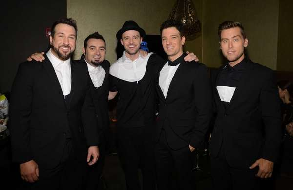 Joey Fatone, from left, Chris Kirkpatrick, Justin Timberlake,