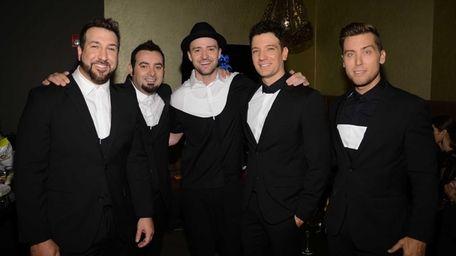 Joey Fatone, from left, Chris Kirkpatrick, Justin Timberlake,