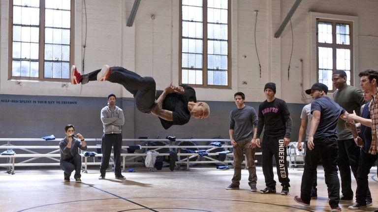 From left, Josh Peck, Josh Holloway, Chris Brown,