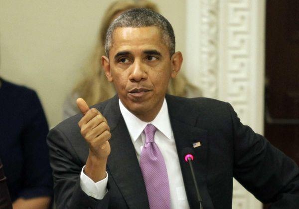 President Barack Obama delivers remarks at a meeting