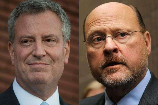 Bill de Blasio and Joe Lhota.