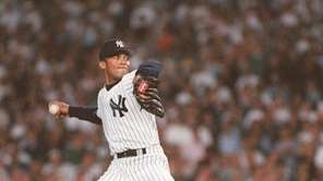 Mariano Rivera earned his first postseason victory in