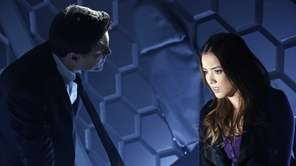 Brett Dalton and Chloe Bennet in a scene