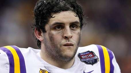LSU offensive guard Josh Williford during the second