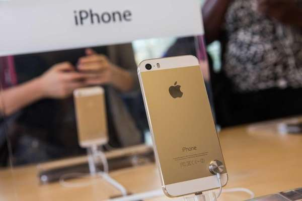 The gold version of the iPhone 5S is