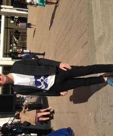 Greg Emerson outside of Lincoln Center at 2014